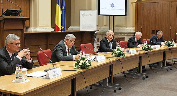Mugur Isărescu și invitații săi